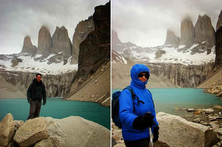 Déborah e Iván. Déborah e Iván. Mirador Torres del Paine.