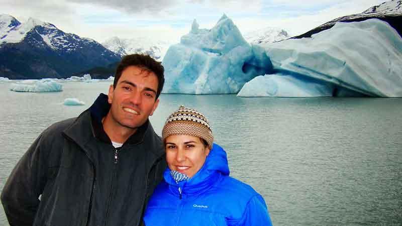 Déborah e Iván. Parque Nacional Los Glaciares (Lago Argentino).