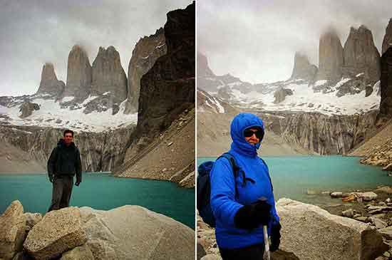 Déborah e Iván en el Mirador de las Torres - Experiencia de la Patagonia sin fronteras