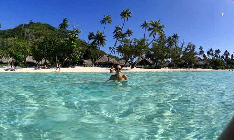 Playa de Matira en Bora Bora