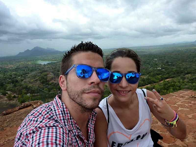 En lo alto de Sigiriya