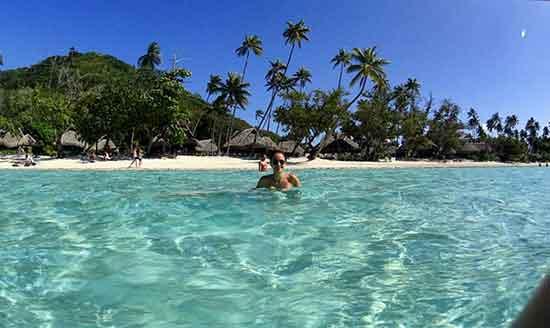 Playa Matira, en Bora Bora