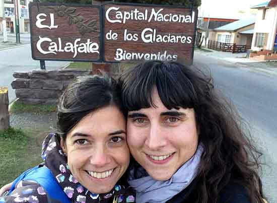 Maria y Cristina en El Calafate - Testimonio de viaje a Argentina