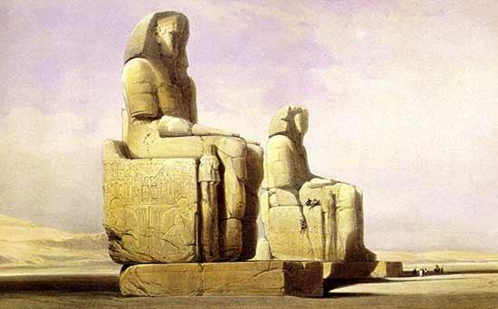 Los colosos de Memnon - Guía de crucero por el Nilo