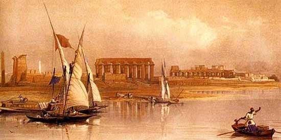 Crucero por el Nilo – al menos una vez en la vida (pintura: David Roberts)