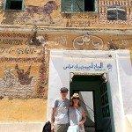 Mikel y Marijo en Luxor, orilla occidental