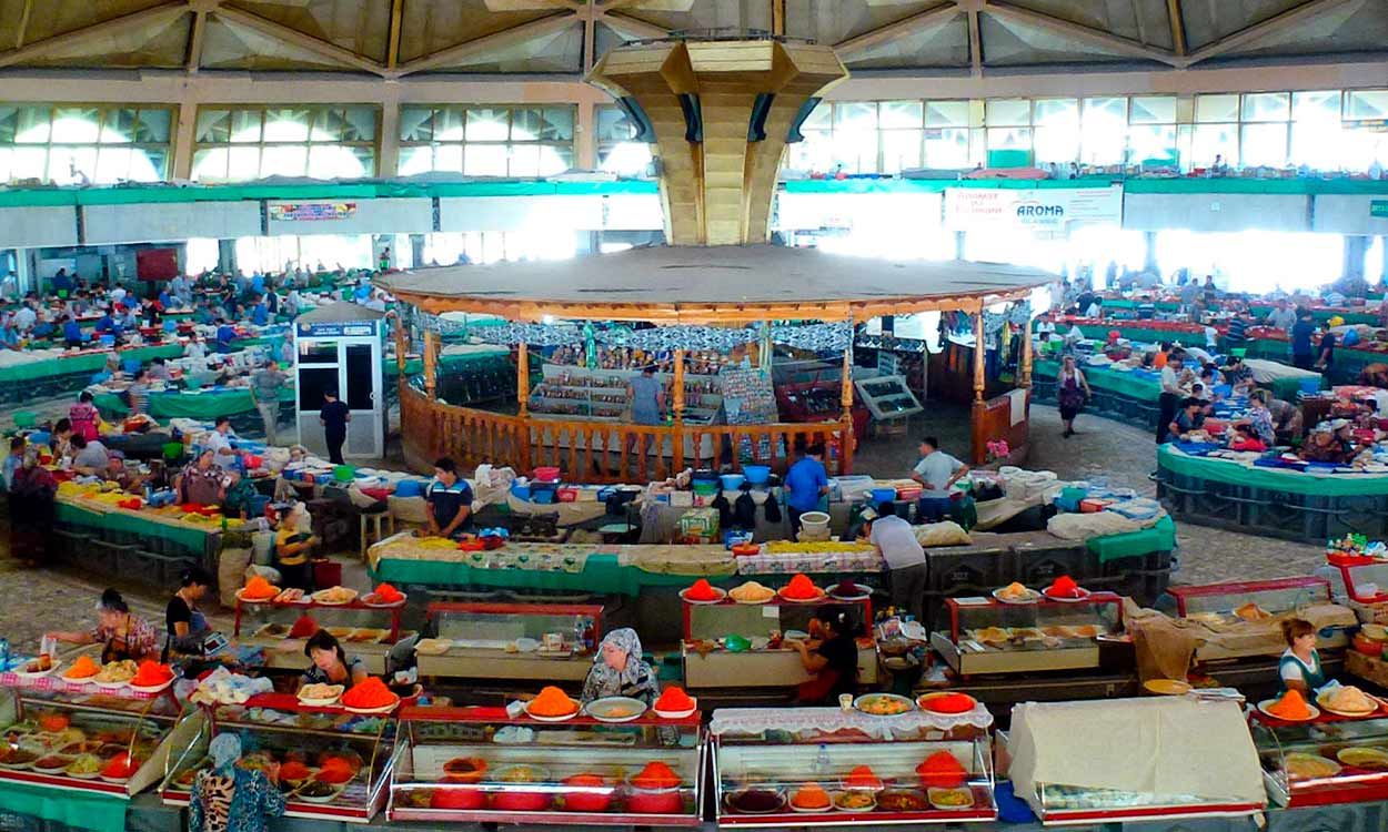 Chorsu Bazaar de Tashkent - Diez cosas que ver en la Ruta de la Seda