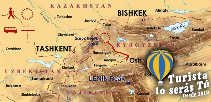 Mapa Trekking Kirguistán