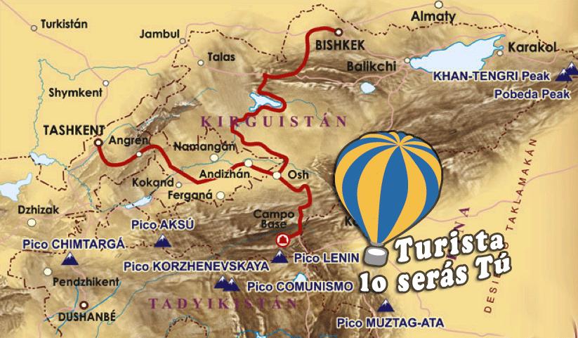 MAPA DE NUESTRA OFERTA DE TURISMO ACTIVO EN PAMIR
