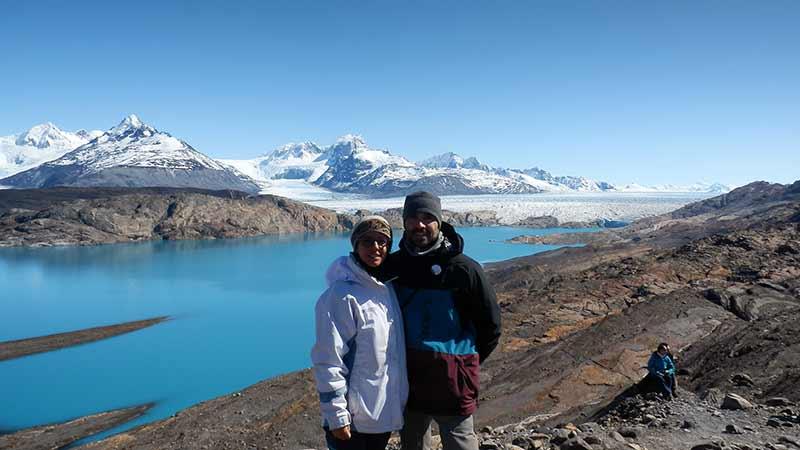 Mirador sobre glaciar Upsala