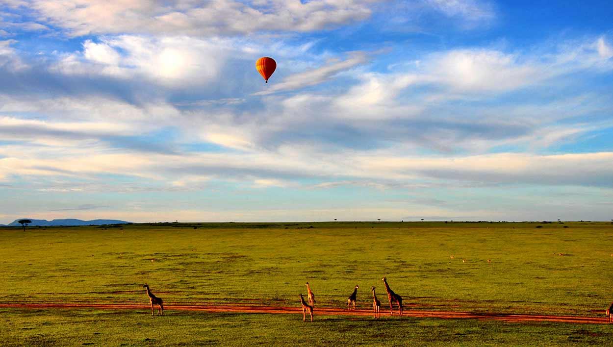 Qué ver en Kenia - Globo en Masai Mara
