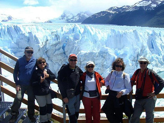 Mirador al Perito Moreno - el viaje a Argentina de Paz, Encarna, Marisa, Rafael, Nicolás y Jesús