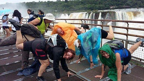 En Iguazú - el viaje a Argentina de Paz, Encarna, Marisa, Rafael, Nicolás y Jesús