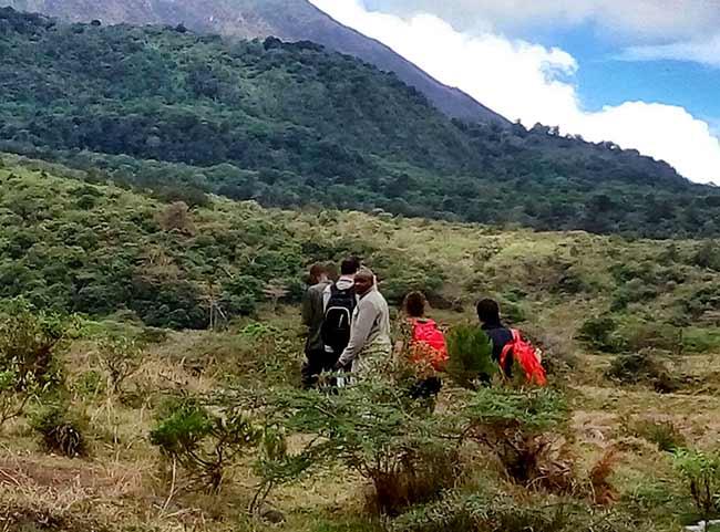 Safari a pie con ranger armado en Momella (foto de Ismael y Patri)