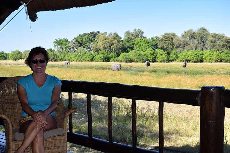 Carmen en el Khwai River Lodge