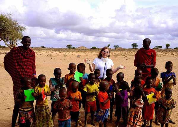 Opinión del Safari en Kenia de Loreto, Pamela y Felipe: escuela en un poblado Massai