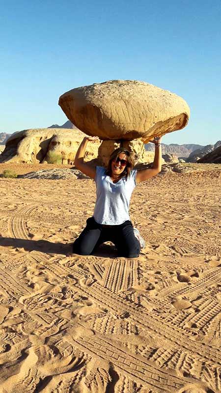 Daniela en Wadi Rum