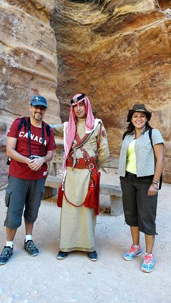 Daniela y Juan en Petra