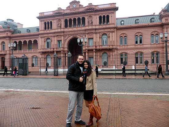 """Opinión del Viaje de novios a Argentina y Rio de Janeiro de Esther e Iván: la """"Casa rosada"""""""