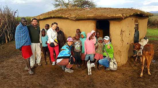 Testimonio del Safari en Kenia de Elsa, César, Diana y Eduar: en poblado Masai