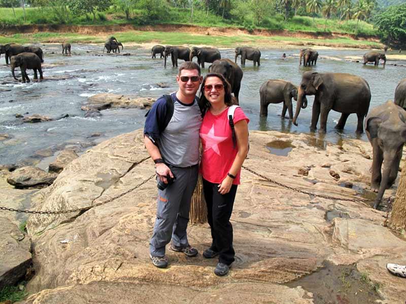 en orfanato de elefantes de Pinawalla