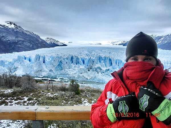 Testimonio de Viaje a Argentina de Mari Cruz y Fernando: con el glaciar Perito Moreno de fondo