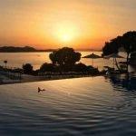 Puesta del Sol desde balcón del hotel en Dubrovnik