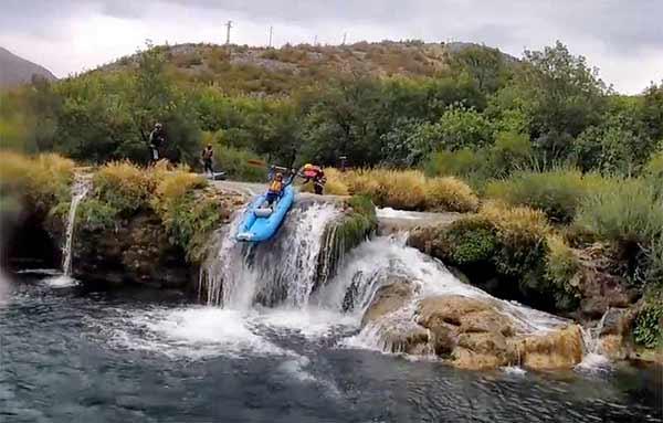 Testimonio de Viaje a Croacia de Rosa y familia: rafting en río Zrmanja