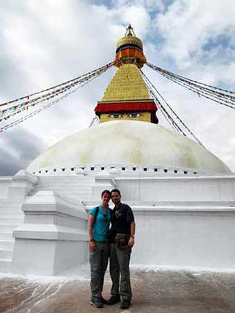 Opinión de viaje a India y Nepal de Marta y Daniel: Estupa budista de Boudhanath (Katmandú)