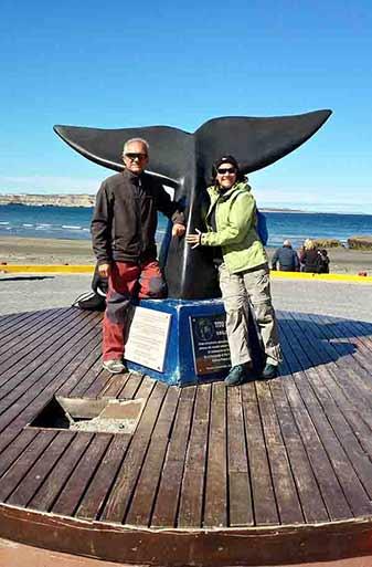 Opinión de viaje a Argentina de Patricia y Juanjo: no deja indiferente el avistaje de ballenas que se dejan ver desde la playa en Puerto Madryn