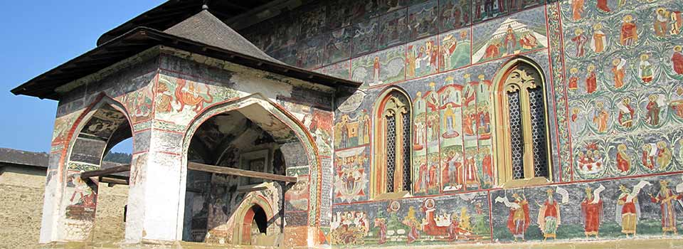 Sucevita murals 2010; By Man vyi (own photo) [Public domain], via Wikimedia Commons