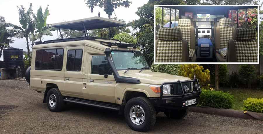 Opinión de Safari en privado en Tanzania - vehiculo que utiliza nuestro receptivo para safari en privado