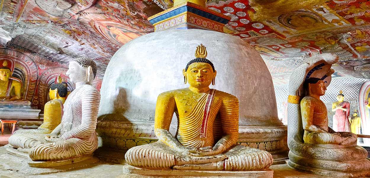 Turismo en sri Lanka: los templos de Dambulla expresan la ancestral presencia del budismo en la isla