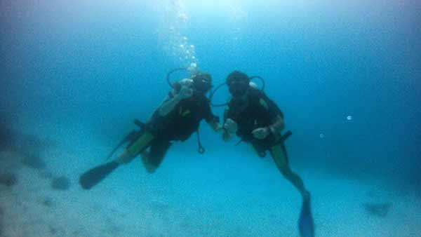 Testimonio de Viaje de novios a Sri Lanka y Maldivas de Andrea y Enrique: buceando en Maldivas