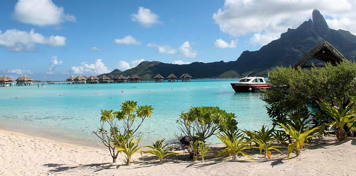 Bora Bora es probablemente la isla más difundida del turismo de Polinesia