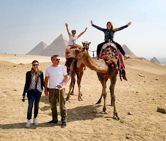 Testimonio del viaje a Egipto de Anna y familia: en Giza