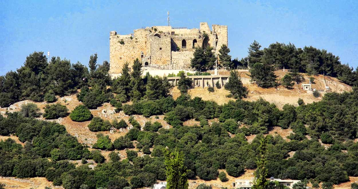 Castillo de Ajlun domina una amplia extensión del norte del valle del Jordán - Turismo de Jordania
