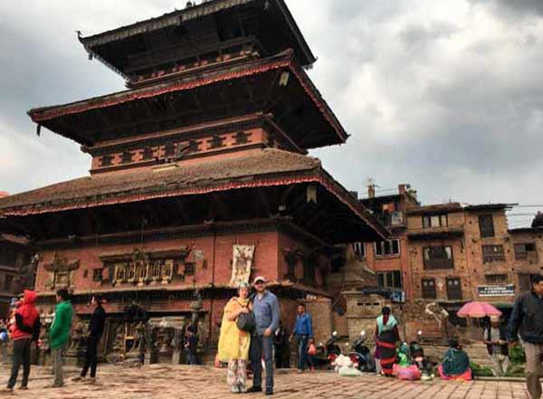 Vicente y Mercedes, en Katmandú, Nepal
