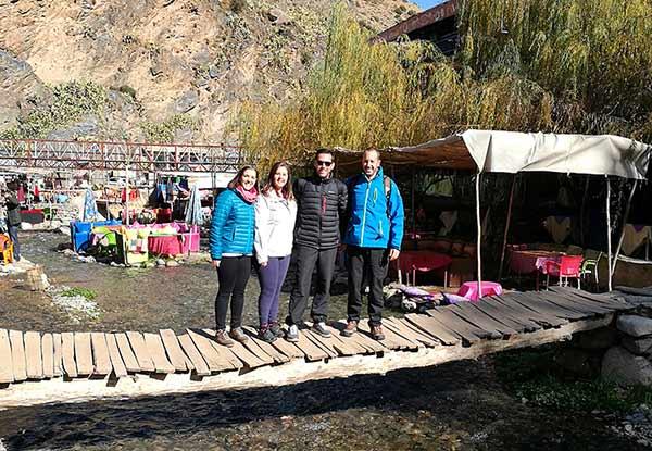 Testimonio de viaje a Marruecos de Diego, Elena, Mari y José Carlos: en valle de Ourika