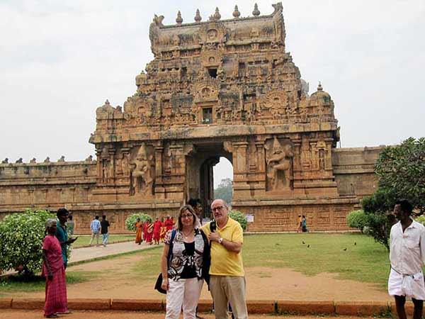 Testimonio de viaje a India del Sur de Mari Carmen y José María: Templo Brihadeeswarar