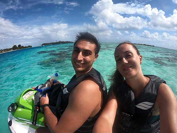 Valoración de viaje a Polinesia de Rocío y Simone - excursión en moto de agua Bora Bora