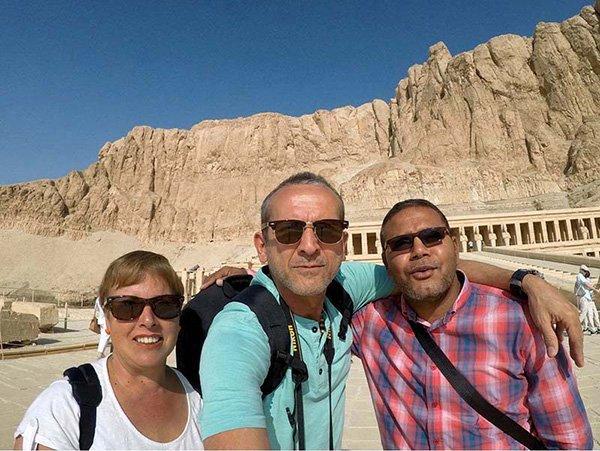 """Testimonio del viaje a Egipto de Fran y Tina: """"Durante el crucero nuestro guía fue Mohamed. Un guía, un amigo y una persona llena de sabiduría…"""""""