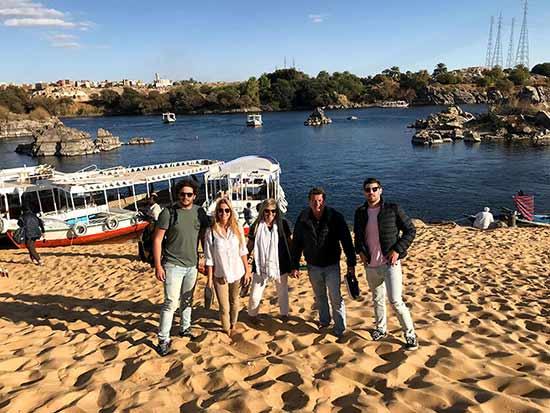 Valoración del viaje a Marruecos y Egipto de Andrea y familia: en la orilla del Nilo