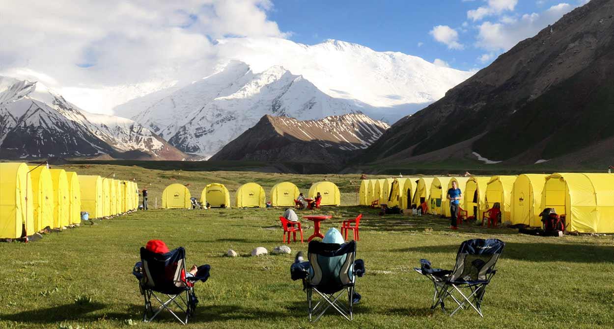 Campamento base - Turismo activo en Kirguistán