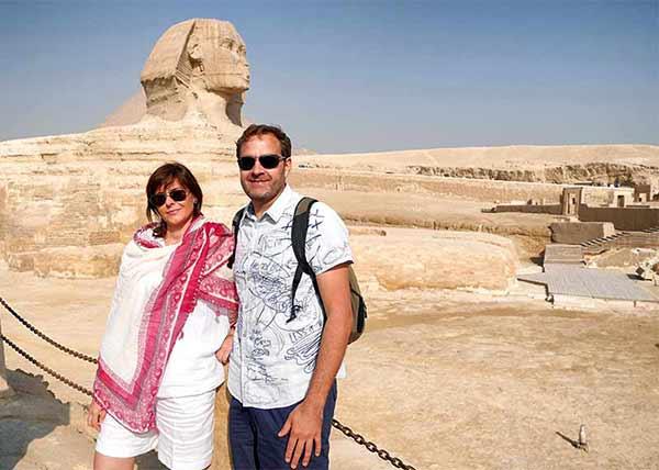 Opinión de viaje a Egipto de Yvanna y Roger: con la Gran Esfinge de telón de fondo