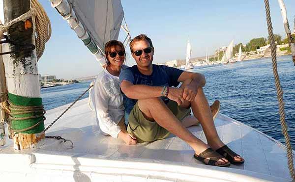 Opinión de viaje a Egipto de Yvanna y Roger: en una faluka.
