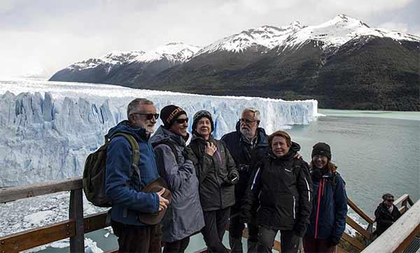 Valoración de viaje a Argentina y Chile de Ricardo y amigos: frente al glaciar Perito Moreno