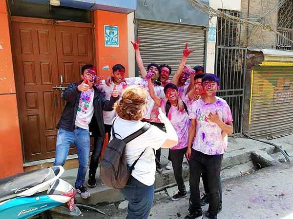 Opinión de Viaje a India y Nepal de Trini y Monse: en Katmandú (Nepal), durante la fiesta Holi
