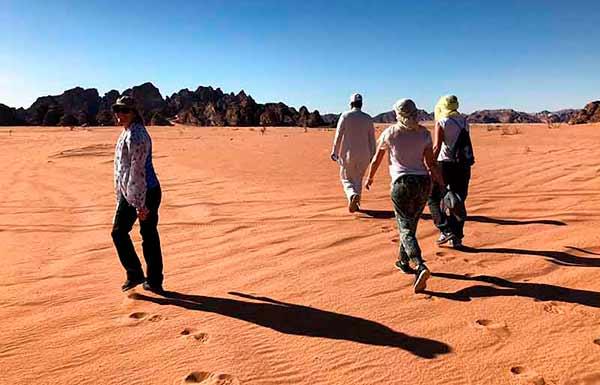Testimonio de viaje a Jordania de Blanca y amigas: en desierto de Wadi Rum