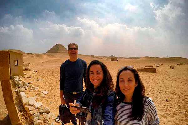 Experiencia de viaje a Egipto de Anna, Elisabet y José Miguel: en Saqqara